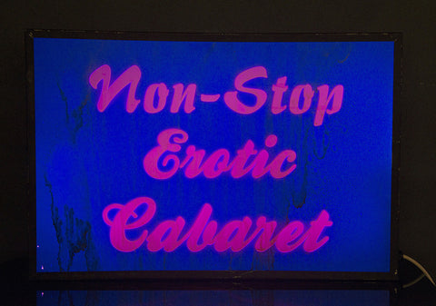 """Non Stop Erotic Cabaret"" Vintage Light Box"