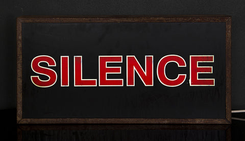 """Silence"" Vintage Light Box"