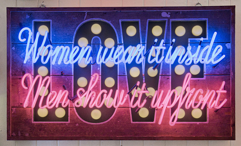 Neon and LED Artwork 'Women Wear It On The Inside' by Matthew Bracey