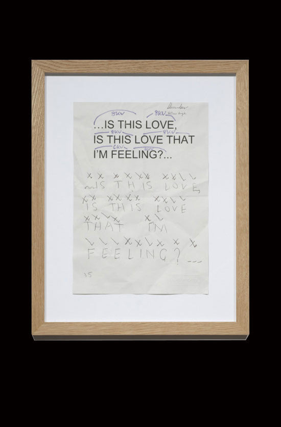 IS THIS LOVE, IS THIS, LOVE THAT I'M FEELING - TEMPLATE REFERENCE SHEETS by VICTORIA LUCAS & RICHARD WILLIAM WHEATER