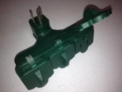 3 Way Grounded Green Outlet