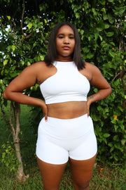 BLANCO RIB SPORTY CROP