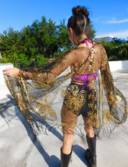 MADE TO ORDER - Gold Dust Sequin Kimono Jacket