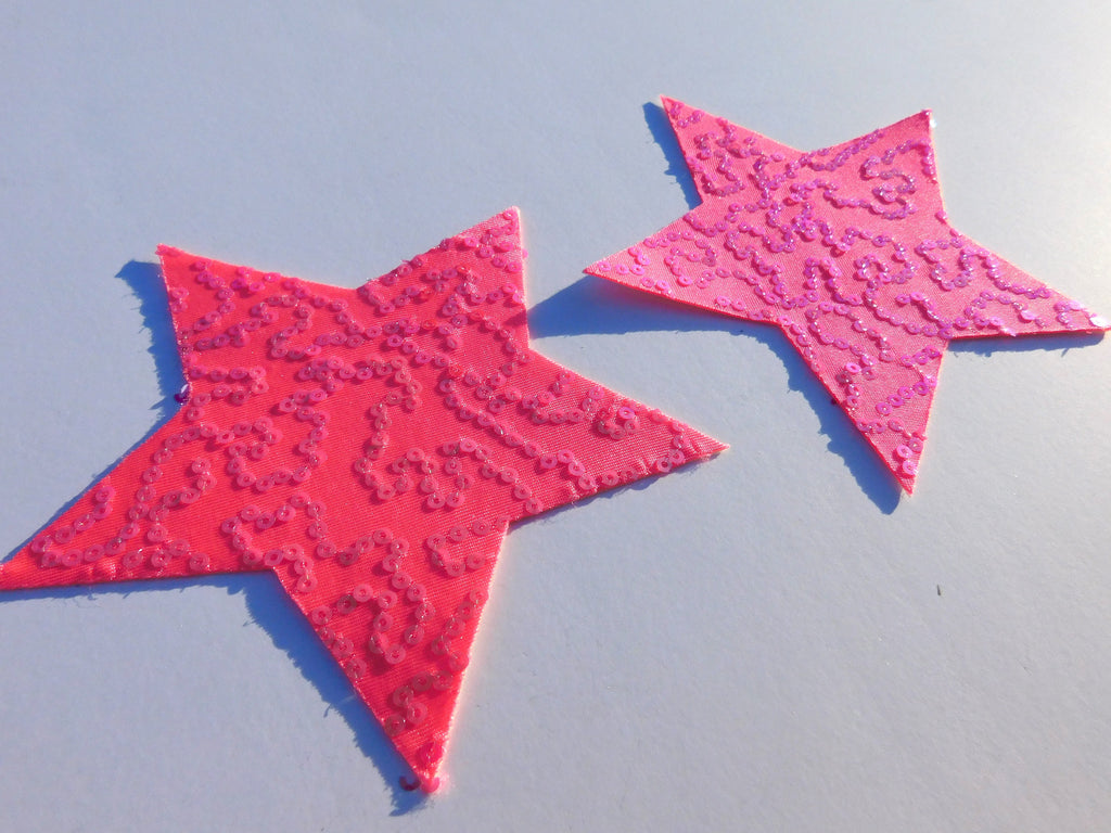 Pink Sparkle Rockstar Pasties - Large