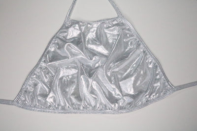 Silver Metallic Halter Top