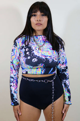 AcidBath Long Sleeve Crop Top