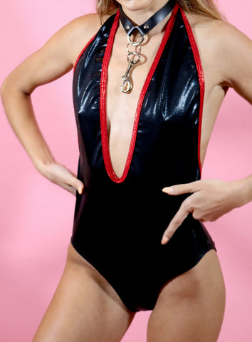 Freak Out Deep Cut Bodysuit