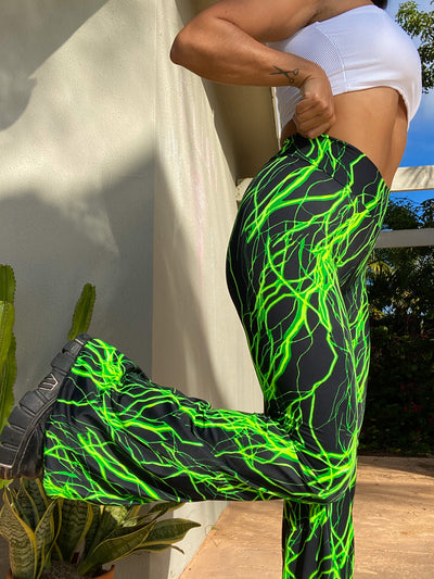 Here Comes The Storm Belle Bottoms (GREEN) (MADE TO ORDER)