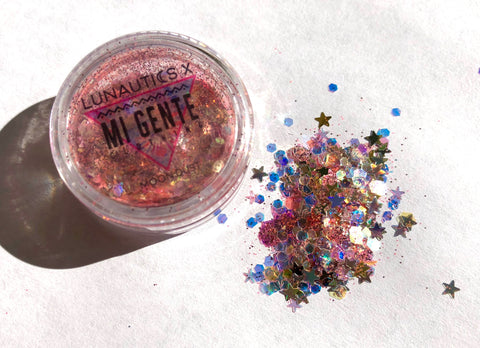 Lunautics x Mi Gente Exclusive Moon Dust Glitter - GUAYABA