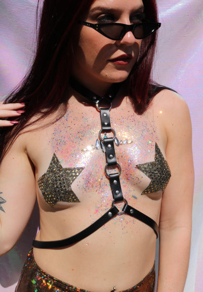 Golden Baby Rockstar Pasties - Large