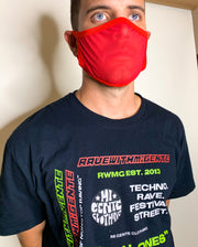Hot Chili Red Mesh Face Mask