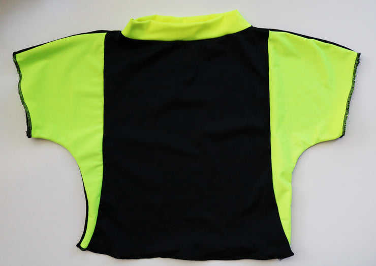 5th Dimension Crop Top - Neon Skies