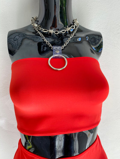 Hot Chili Red Tube Top - Solid Red
