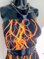 Here Comes The Storm Tube Top - Neon