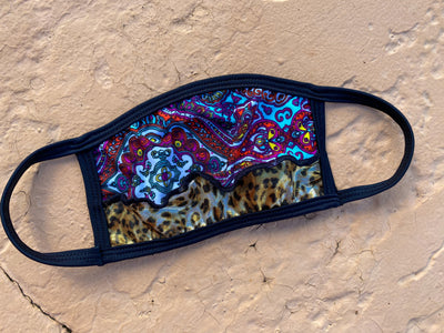 PAISLEY CHEETAH Face Mask (ONE OF A KIND)