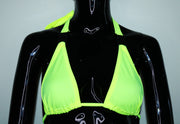 Neon Skies Buckle Bikini Top