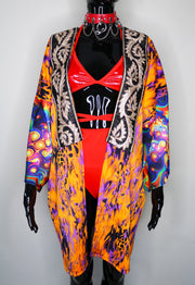 Tangerine Flip Festival Jacket - ONE OF A KIND