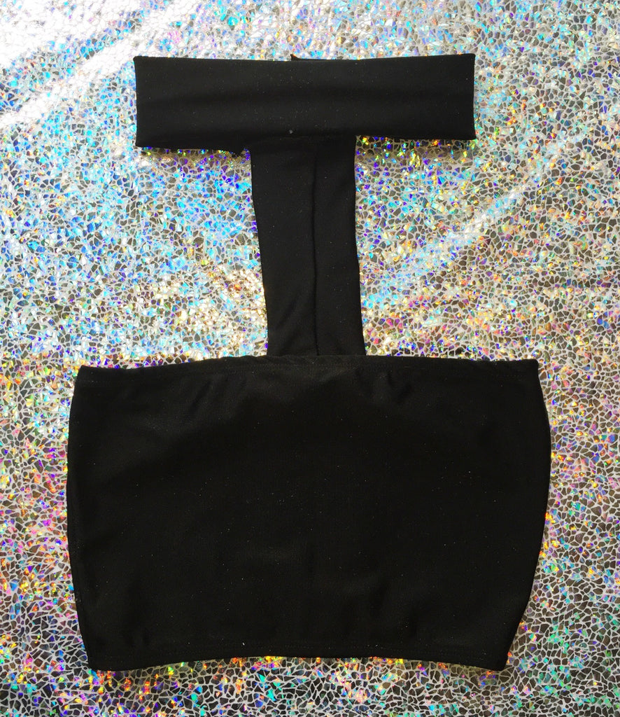 Basic Black Choker Tube Top