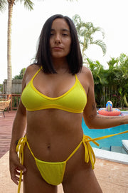 CITRON TIE SIDE BIKINI BOTTOM
