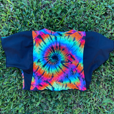 The 5th Dimension Crop Top - Can U See The Colors / Black (MADE TO ORDER)