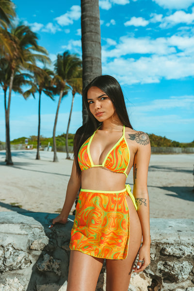 MIAMI SPIRAL Wrap Mini Skirt