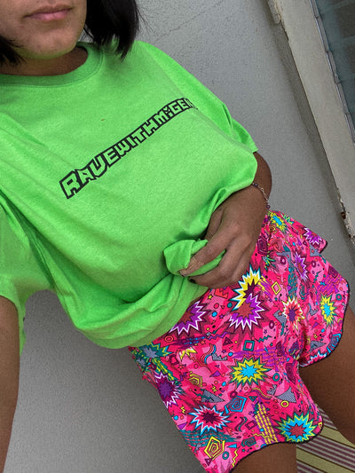 RAVEWITHMIGENTE LIMEWIRE Cyber Logo Tee