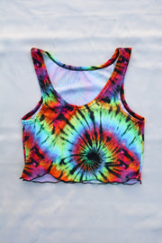 TIE DYE CROP TANK (MADE TO ORDER)