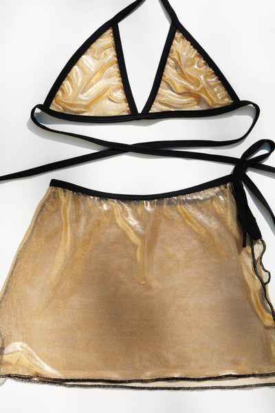Golden Hour Mesh Wrap Bralette
