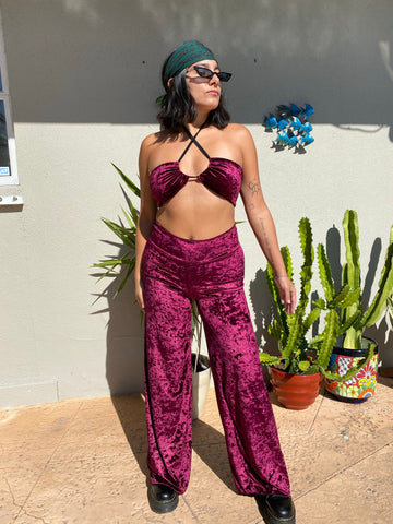 Merlot Velvet Disco Multi Top (MADE TO ORDER)