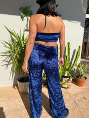Halcyon Crushed Velvet Wide Leg Pants
