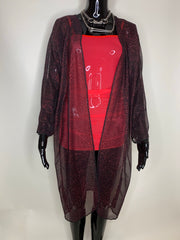Rapture Kimono - Red Glitter (LIMITED EDITION)
