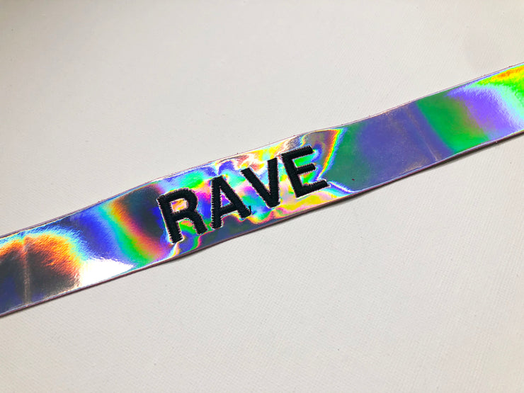 RAVE Choker - Hologram - Mi Gente Clothing X Stinnys