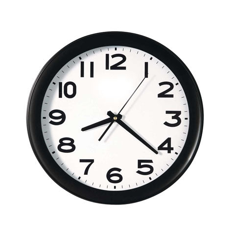 Rounded Black home Wall Clock