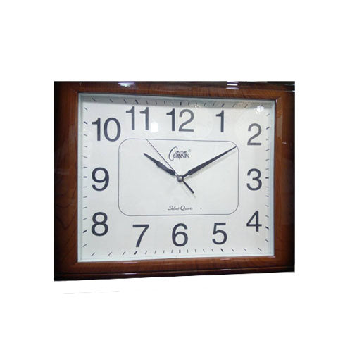Fancy Brown Square home Wall Clock