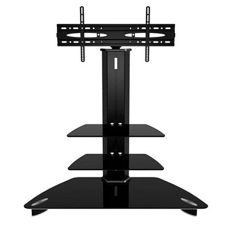 Tempered High Gloss Black LED TV Floor Stand 24-43""