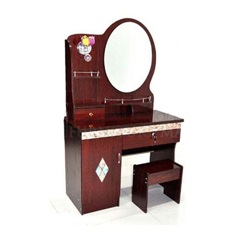 Wooden Brown Dressing table with Closet
