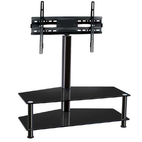 Tempered Glass TV Trolley Stand