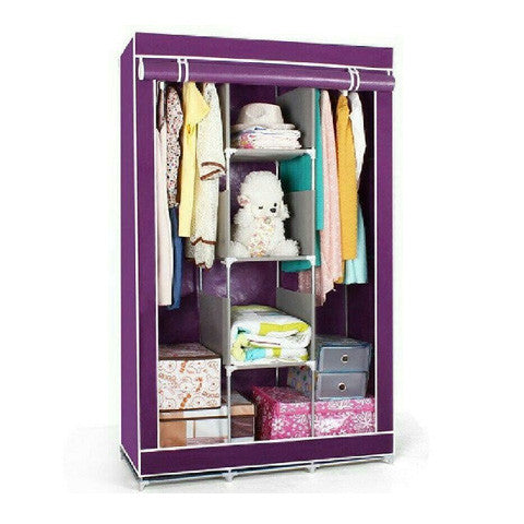Rubber maid 3 doors Wardrobe clothing storage and closet Organizer - Appointus Online Stores