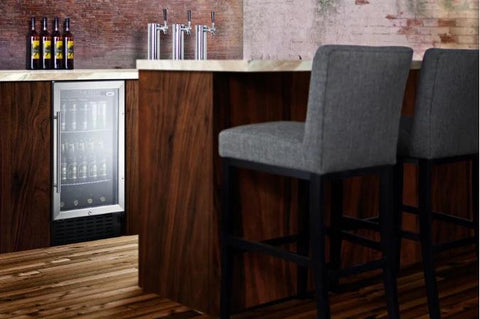 Amazing 18 Wide Beverage Cooler For Ada Height Cabinets Scr1841Bada Home Interior And Landscaping Palasignezvosmurscom