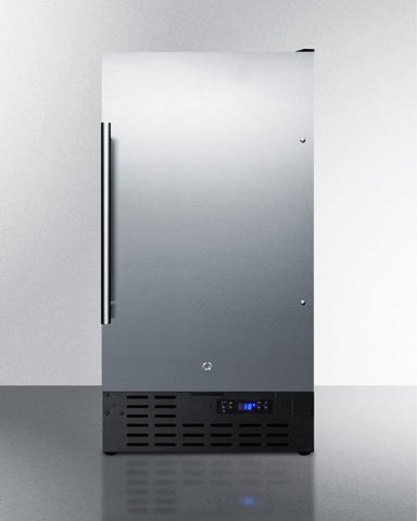 "18"" wide frost-free freezer for built-in ADA SCFF1842CSSADA"