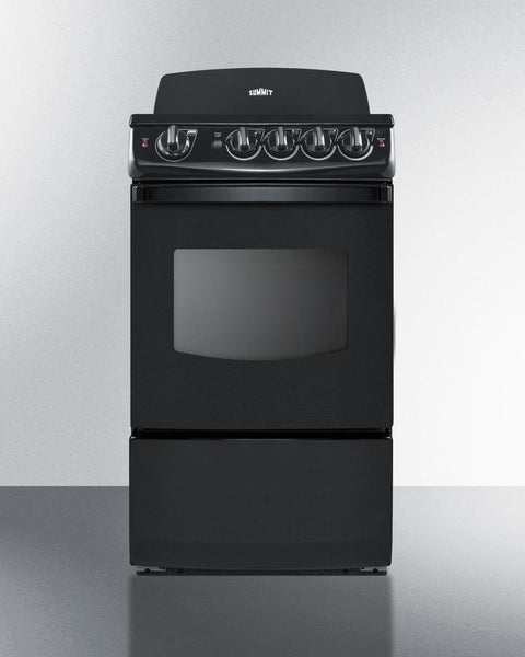 Electric Range Smooth Top Cooking Surface Summit On In: 20 Inch Smooth Top Electric Range REX206B