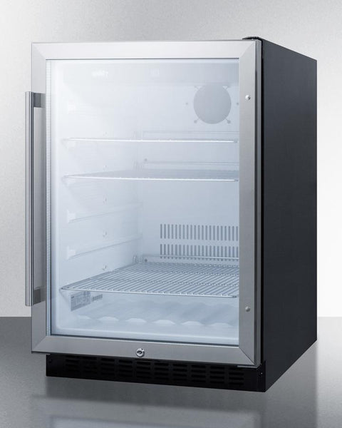 Summit Appliance 24 Quot Wide Built In Glass Door Refrigerator