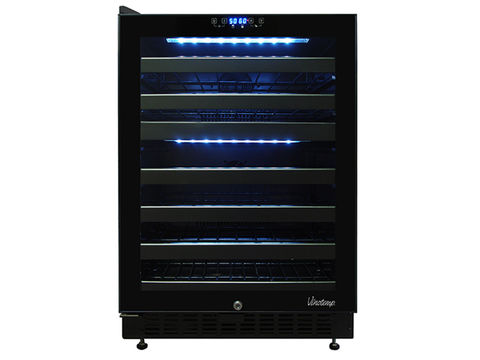 46 Bottle Dual-Zone Touch Screen Wine Cooler VT-46TS-2Z