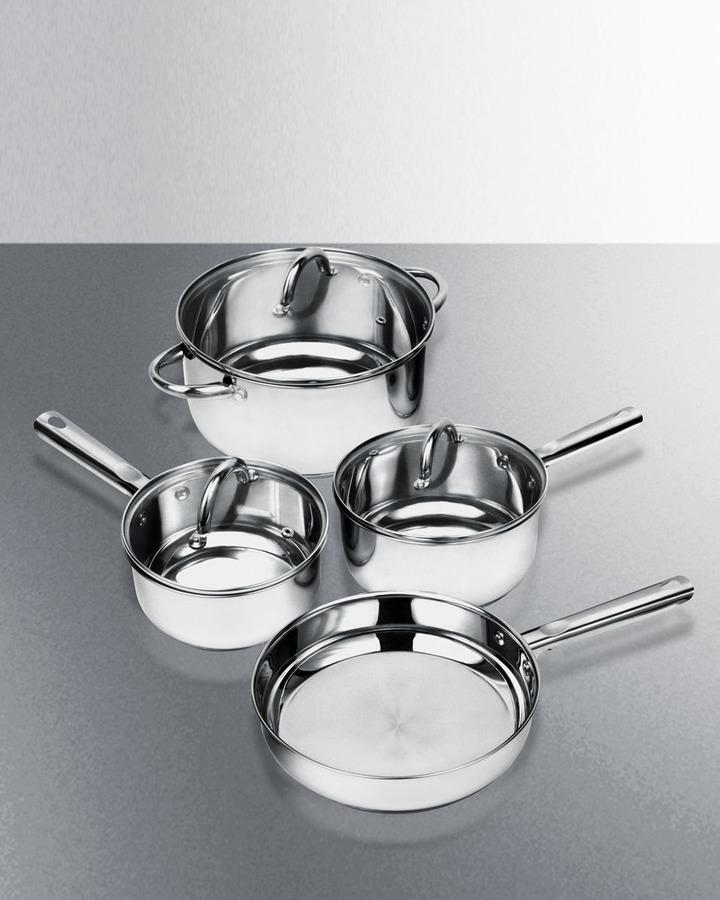 7-piece Induction Friendly Cookware Set Induction Cookware