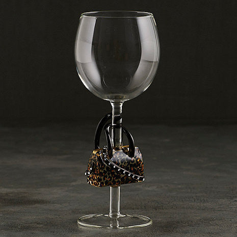 Collectible Leopard Handbag Wine Glass 157 35 13 - Good Wine Coolers