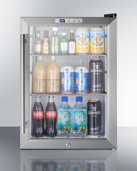 Compact Commercial Glass Door Beverage Cooler Scr312lcss