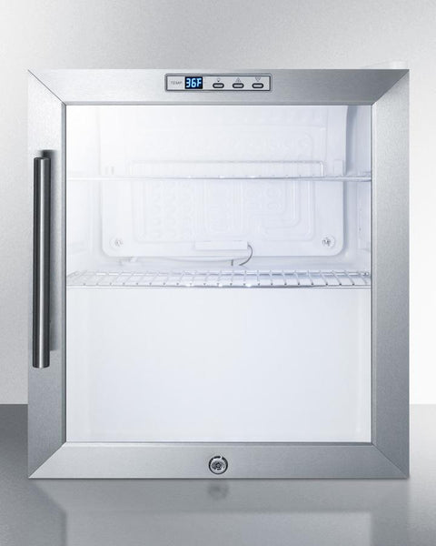 Compact Commercial Glass Door Refrigerator Scr215l Good