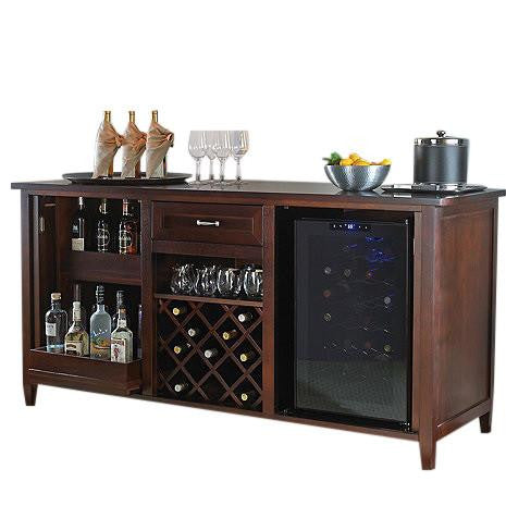 Firenze Wine And Spirits Credenza With Wine Refrigerator