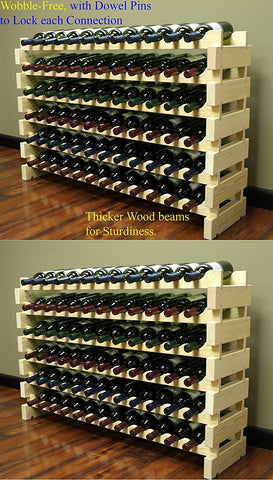 Swedish 144 Bottle Wine Rack Natural Wobble Free Good Wine Coolers