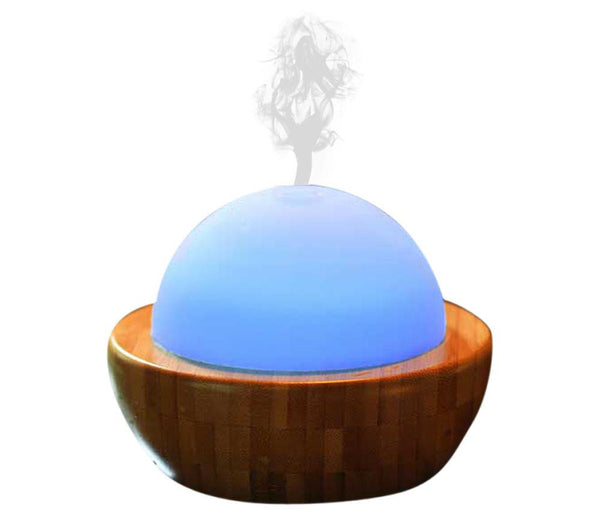 Ultrasonic Aroma Diffuser Humidifier With Bamboo Base Sa